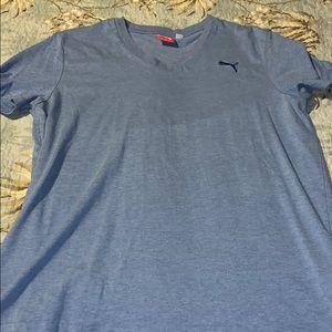 Men's Blue Puma V neck t shirt